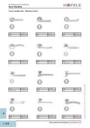 Architectural Hardware Door Handles - Hafele