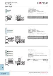 Architectural Hardware Door Hinges - Hafele