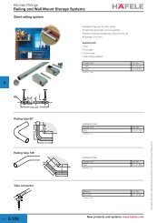 Railing and Wall Mount Storage Systems - Hafele