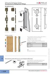 Sliding and Folding Door Fittings Accessories for Sliding ... - Hafele