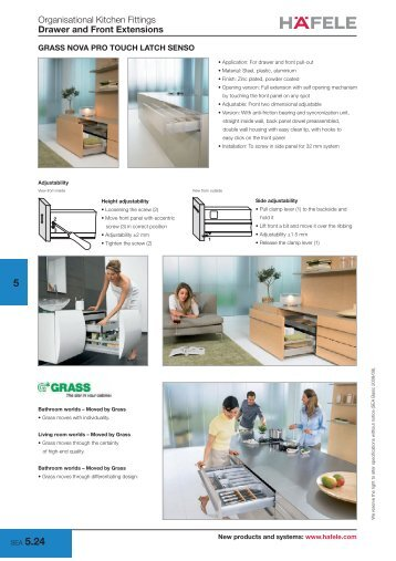 Organisational Kitchen Fittings Drawer and Front Extensions - Hafele