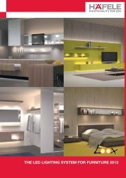 THE LED LIGHTING SYSTEM FOR FURNITURE 2012 - Hafele