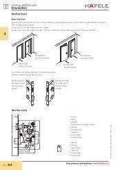 Mortise locks - Hafele