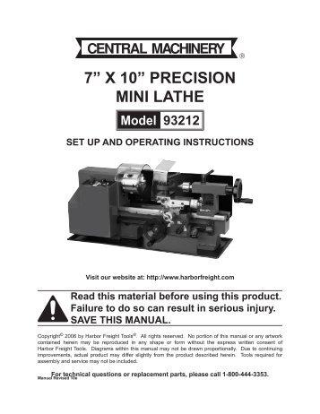 7a x 10a precision mini lathe harbor freight tools?quality=85 10â\u20ac x 18â\u20ac mini wood lathe harbor freight tools