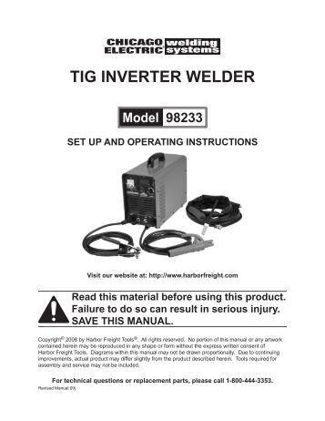 Harbor freight Spot welder Manual