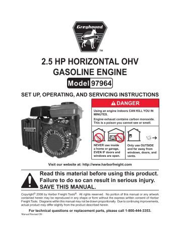 Harbor Freight 13 Hp Engine Manual