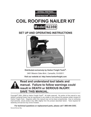 R175 C Roofer S Choice 226 162 Coil Roofing Nailer Paslode