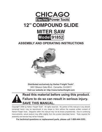 12a-compound-slide-miter-saw-harbor-freight-tools Harbor Freight Mini Mill Wiring Diagram on