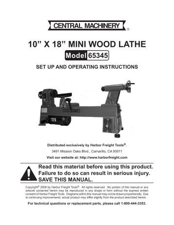 10a-x-18a-mini-wood-lathe-harbor-freight-tools Harbor Freight Mini Mill Wiring Diagram on