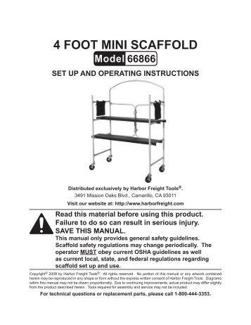 4-foot-mini-scaffold-harbor-freight-tools Harbor Freight Mini Mill Wiring Diagram on