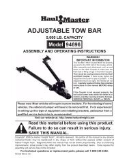 Hilka Tools 83959520 2 Tonne Tow Bar with Damper