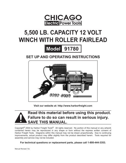 5500 lb. capacity 12 volt winch with roller fairlead ... Harbor Freight Winch Wiring Diagram V on harbor freight winch solenoid, harbor freight winch system, harbor freight winch battery, harbor freight winch accessories, harbor freight winch parts, harbor freight winch remote control, harbor freight winch circuit breaker, badland remote winch diagram, badland winches wiring diagram, harbor freight winch cover,