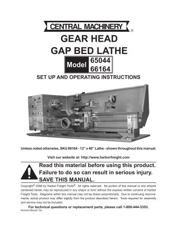 gear-head-gap-bed-lathe-harbor-freight-tools Harbor Freight Mini Mill Wiring Diagram on