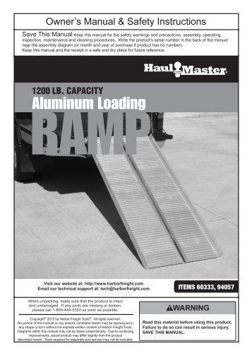 1200 LB. CAPACITY RAMP - Harbor Freight Tools