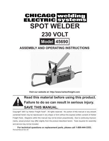 spot welder - Harbor Freight Tools