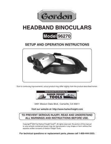 Headband binoculars - Harbor Freight Tools