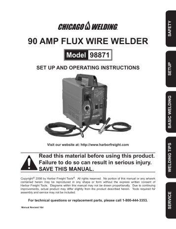 90 AMP FLUX WIRE WELdER - Harbor Freight Tools