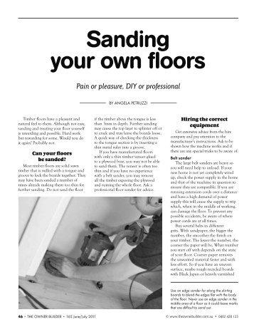 Sanding your own floors - Livos Australia