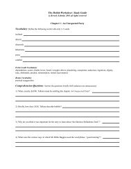 The Hobbit Worksheet / Study Guide - Love to Learn Place