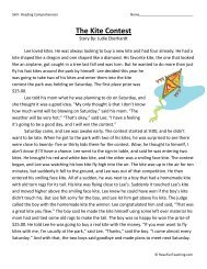 The Kite Contest - Comprehension Worksheets