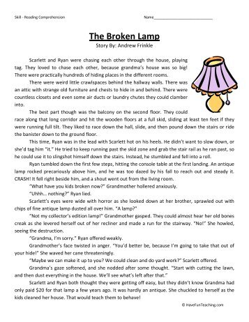 Second Grade Comprehension Worksheet