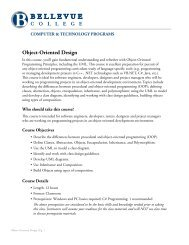 Object-Oriented Design - Bellevue College Continuing Education