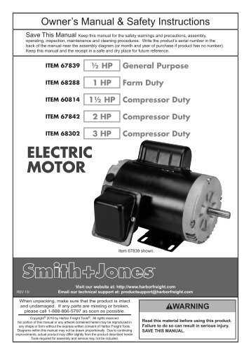 Electric Motor: Electric Motor Harbor Freight on