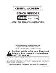 Bench And Pedestal Grinder Onguard 174 Safety Training