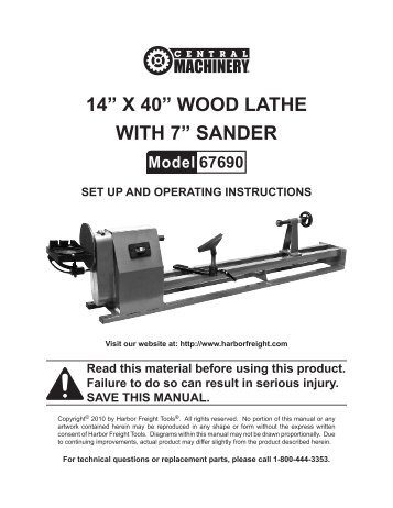 14a x 40a wood lathe with 7a sander harbor freight tools?quality=85 12\u201d x 37\u201d gap bed lathe harbor freight tools