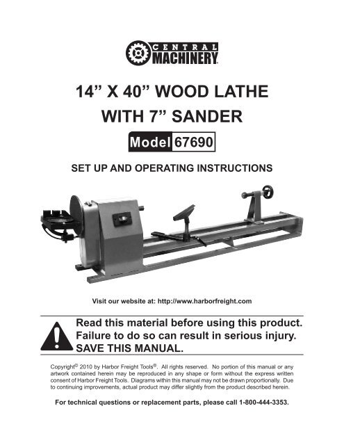 Harbor Freight Lathe Wiring Diagram on
