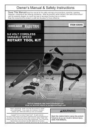 IMPORTANT SAFETy INFORMATION - Harbor Freight Tools