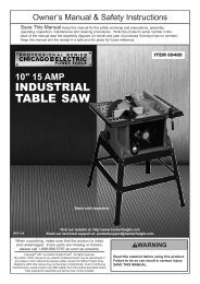 Mounting Table Saw - Harbor Freight Tools