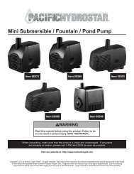 Mini Submersible / Fountain / Pond Pump - Harbor Freight Tools