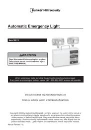 Automatic Emergency Light - Harbor Freight Tools