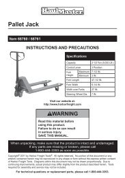 Pallet Jack - Harbor Freight Tools