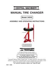 Manual tire changer - Harbor Freight Tools