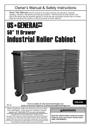 """56"""" RolleR Cabinet - Harbor Freight Tools"""