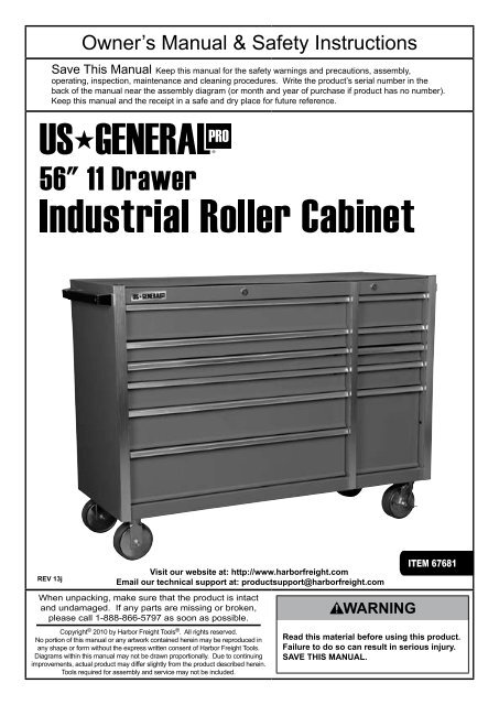 56â Roller Cabinet Harbor Freight Tools