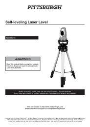 Self-leveling Laser Level - Harbor Freight Tools