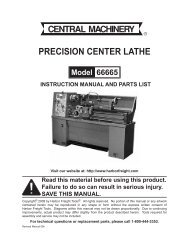 parts list - Harbor Freight Tools