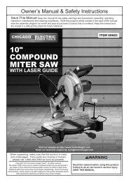 MITER SAW - Harbor Freight Tools
