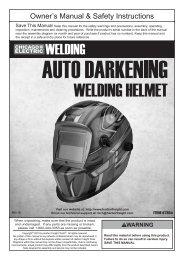 Auto-Darkening Welding Helmet - Harbor Freight Tools