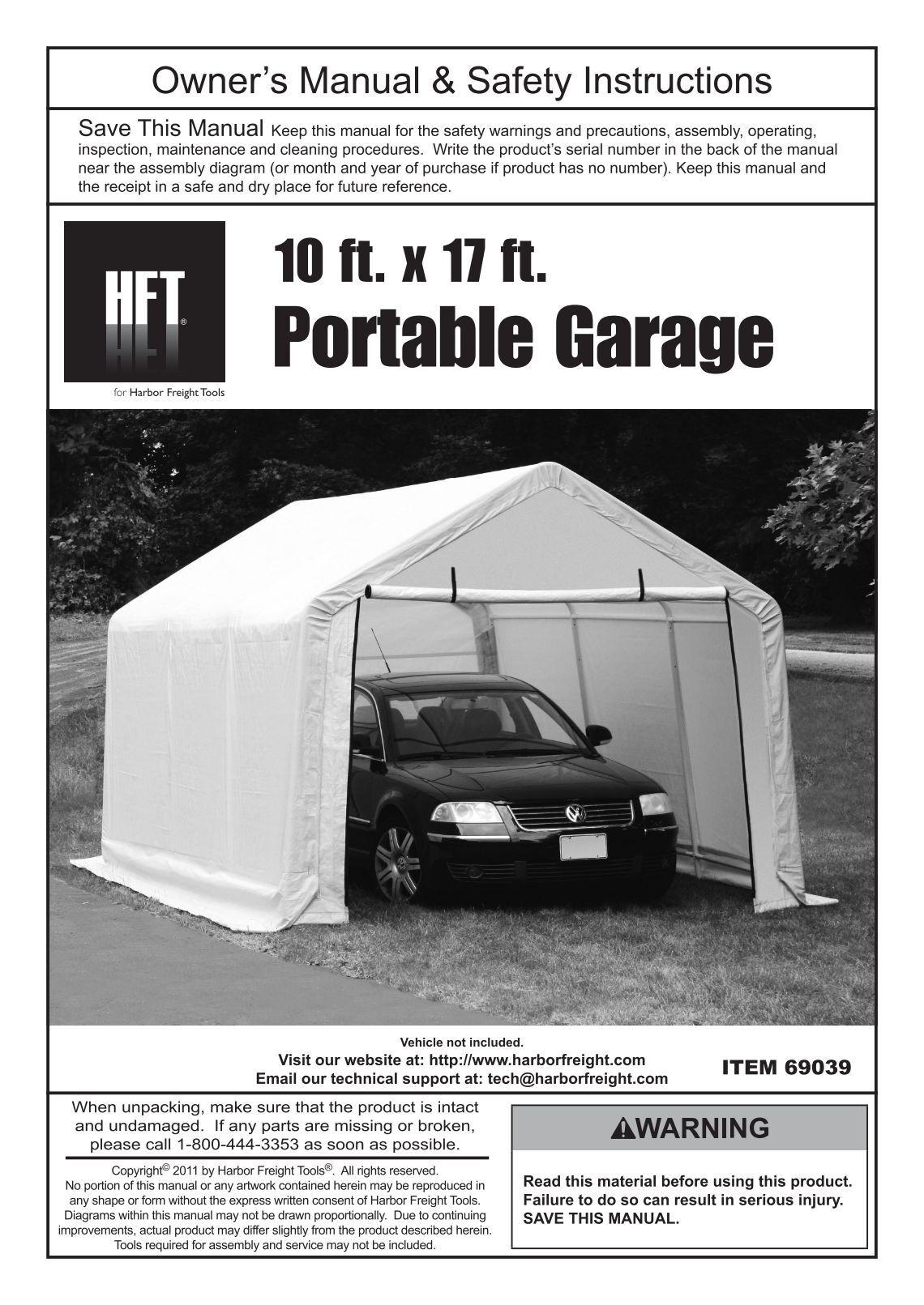 Harbor Freight Portable Garage : Harbor freight portable garage bing images
