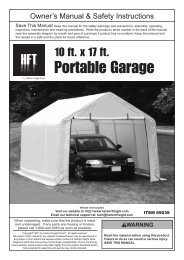 Portable Garage - Harbor Freight Tools