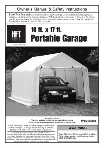 270 free Magazines from MANUALS.HARBORFREIGHT.COM