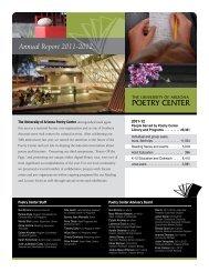 here - The University of Arizona Poetry Center