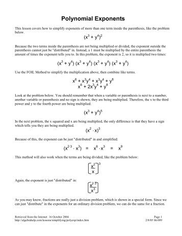 20 Multiplying A Polynomial By A Monomial Worksheet, Multiplying ...