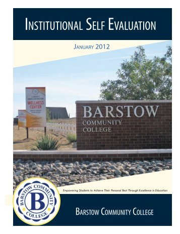 institutional self evaluation - Barstow Community College