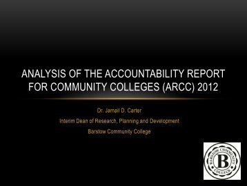 ARCC Presentation - Barstow Community College