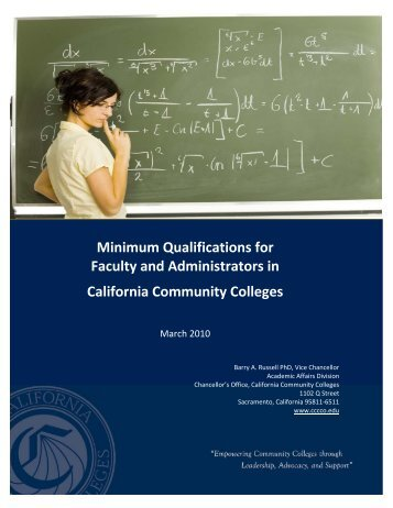 CCCCO Faculty Minimum Qualifications - Barstow Community College